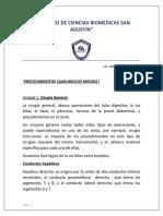 PROCEDIMIENTOS MEDIOS 1 Unidad 1 Cirugia General