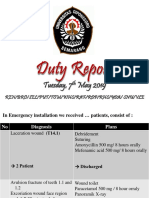 Duty Report Tuesday 07-05-2019