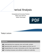 Numerical Analysis in Computational Economics