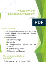 Philosophy and Educational Philosophy