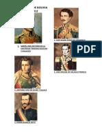 Presidentes de Bolivia 1825