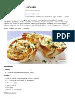 Cestinhas Crocantes Recheadas - Amando Cozinhar - Receitas, Dicas de Culinária, Decoração e Muito Mais!