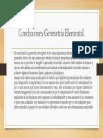 Conclusiones Geometría Elemental
