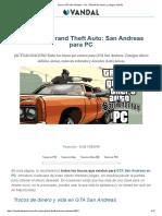 Trucos GTA San Andreas - PC. TODAS Las Claves y Códigos (2019)