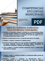 Competencias Exclusivas Municipales