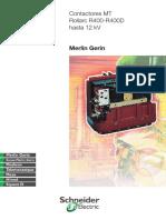 Contactores MT Rollarc R400 - R400D Hasta 12 KV - Editorial Schneider Electric