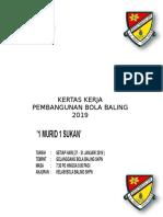 Kertas Kerja Pembangunan Bola Baling