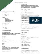 Resumo Sobre Cálculos Químicos