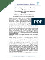 Estudos Terminológicos e Aplicações Da Filosofia Da Linguagem