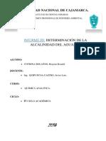 Analitica Alcalinidad Del Agua