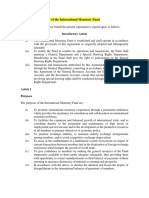 Articles of Agreement of the International Monetary Fund