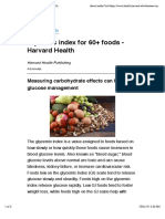 Glycemic index for 60+ foods - Harvard Health
