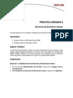 Práctica Dirigida 9 - Serviciios de Escritorio Remoto 2