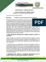 Invitacion Publica San José de Uré
