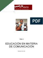 Educacion en Materia de Comunicacion