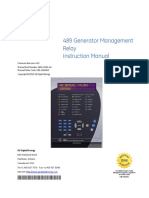 489 Generator Management Relay Instruction Manual - Autores Varios - Editorial General Electric - 2013