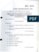 MDS Oral Medicine Question Papers 2002