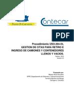 Procedimiento Uso-204-Ol Gestion de Cita Para Ingreso y Retiro de Contenedores Llenos y Vacios v2.5