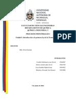 Trabajo 2 - Procesos Industriales 1