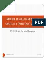 Informe Tecnico Minero Cap. i