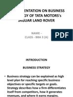BUSINESS STRATEGY OF TATA MOTORS's JAGUAR LAND ROVER