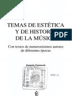 ZAMACOIS, J. - Temas de Estética e Historia de La Música
