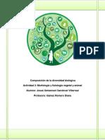 Unidad 2 Composición de La Diversidad Biológica Actividad 3 Morfología y Fisiología Vegetal y Animal