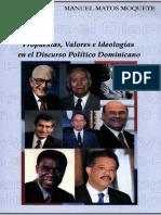 MatosMoquete,Manuel Propuestas,Valoreseideologiasendiscursopoliticodominicano