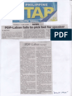 Pilippine Star, June 13, 2019, PDP-Laban fails to pick bet for speaker.pdf