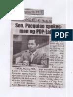 Police Files, June 13, 2019, Sen. Pacquiao spokesman ng PDP-Laban.pdf
