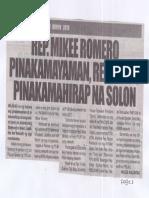 Remate, June 13, 2019, Rep. Mikee Romero pinakamayaman, Rep. Elago pinakamahirap na Solon.pdf