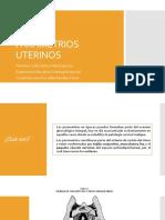 Parametrios uterinos