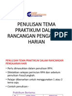 2018 - Penulisan Tema Praktikum Dalam Rancangan Pengajaran Harian