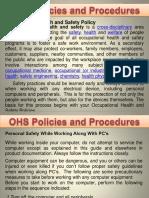 OHS Policies & Procedures