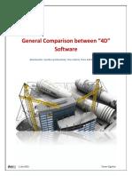 Comparison Between BIM 4D Software