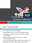 Customer Service For Massage Therapists