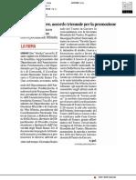 Teatro in Carcere, accordo triennale per la promozione - Il Corriere Adriatico del 12 giugno 2019
