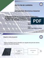 Convertidor DC-DC elevador con seguidor de punto de máxima potencia mediante procesador digital de señal - Haro Carbonell, Alejandro - Presentación