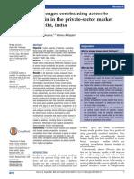 Access Insulin in Private Sector in India