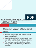 PLanning of F $ B Outlets
