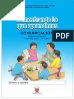 Kit Evaluacion Demostrando Aprendimos 2do Primaria Comunicacion 2trimestre Proceso1