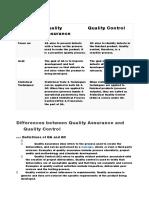 Differences Between QC &QA