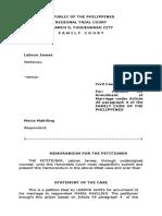 Petioner files