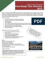 China Study Tour Itinerary