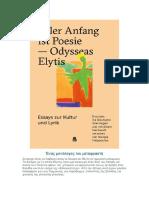 Ένας μονόλογος του μεταφραστή Γιώργη Φωτόπουλου για τα πεζά του Ελύτη στα Γερμανικά
