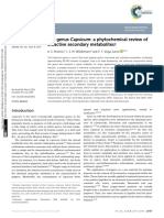 The Genus Capsicum a Phytochemical Review of Bioac