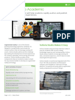 Vuforia Studio Academic Data Sheet