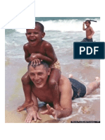 A Young Barack Obama Enjoying Time on the Beach With His Grandfather, Stanley Armour Dunham, 1963.