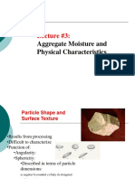 Aggregate Moisture and Physical Char
