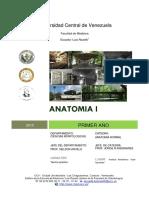 Contenido unidades de catedra anatomia ucv